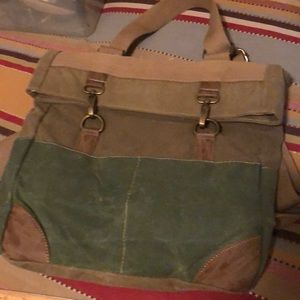 Backpack mail type bag oiled canvas